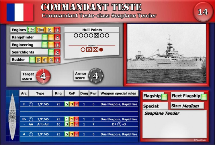 Commandant Teste-class Seaplane Carrier
