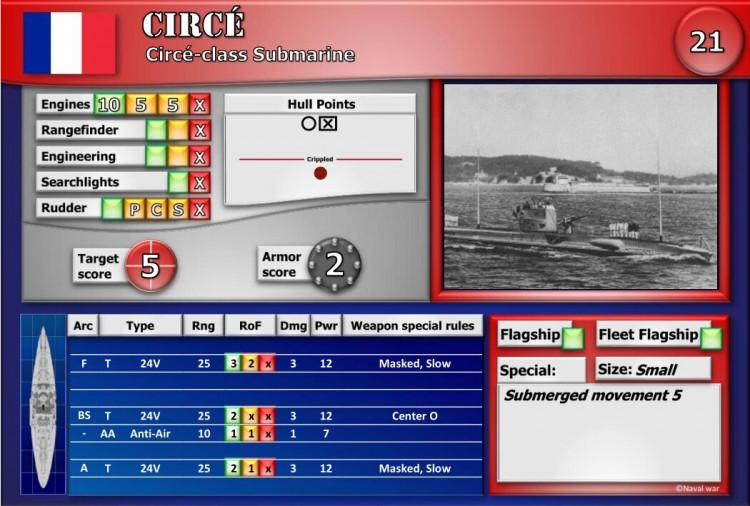 Circé-class Submarine