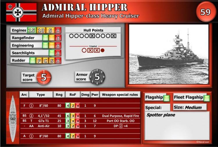 Admiral Hipper-class Heavy Cruiser