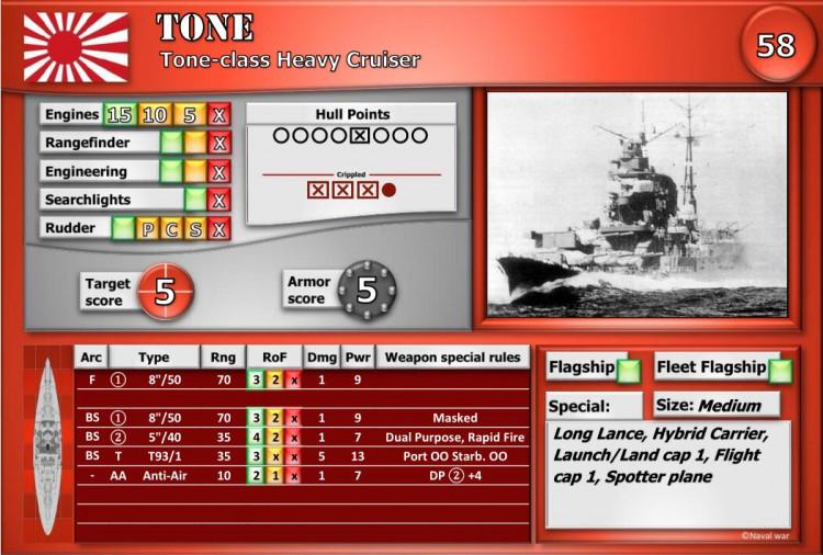 Tone-class Heavy Cruiser