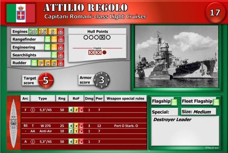 Capitani Romani-class Light Cruiser