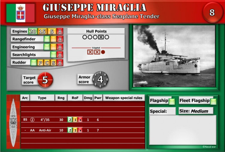 Giuseppe Miraglia-class Seaplane Tender