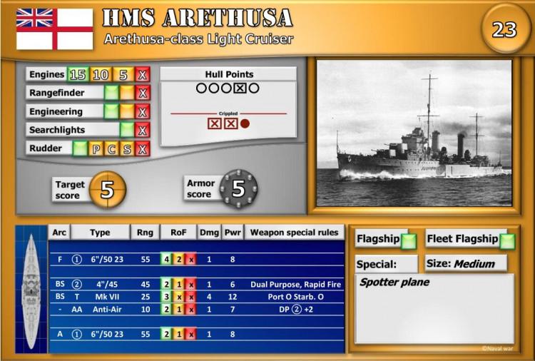 Arethusa-class Light Cruiser