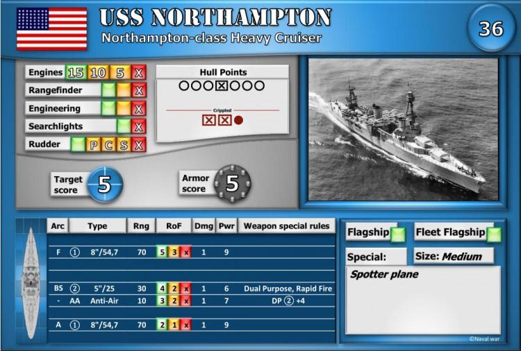 Northampton-class Heavy Cruiser