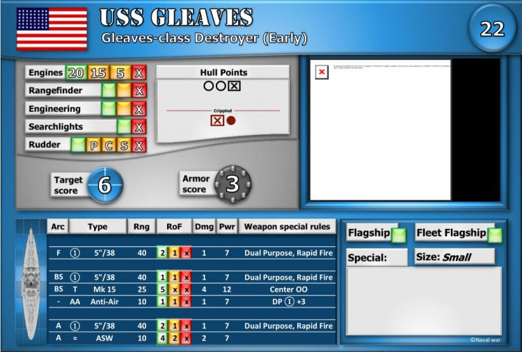 Gleaves-class Destroyer